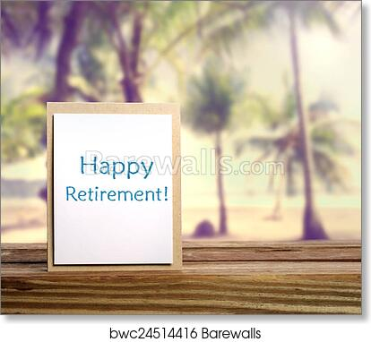 graphic relating to Retirement Card Printable named Delighted Retirement Card artwork print poster