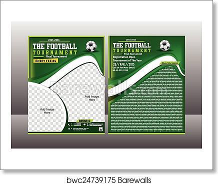 art print of football tournament flyer template barewalls posters