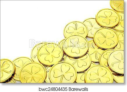 Art Print Of St Patricks Day Gold Coin Border