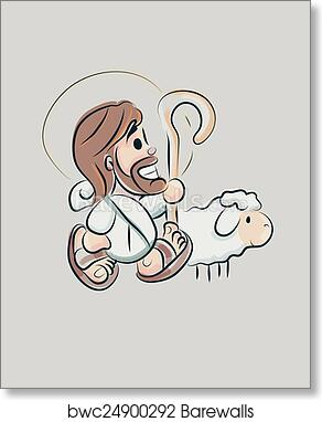 Jesus Cartoon D Art Print Barewalls Posters Prints Bwc24900292