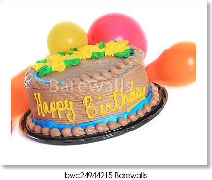 Art Print Of Happy Birthday Cake