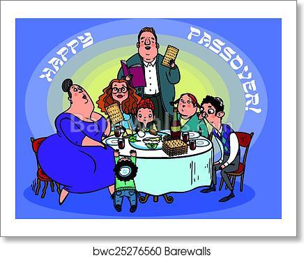 Art print of funny happy jewish passover greeting card vector art print of funny happy jewish passover greeting card vector illustration m4hsunfo