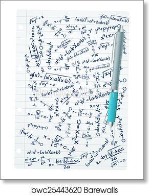 art print of math formula sheet barewalls posters prints