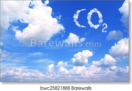 Art Print Of Symbol Co2 From Clouds Barewalls Posters Prints
