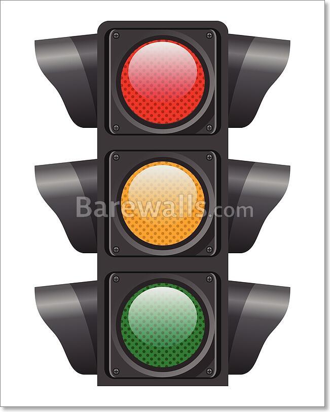 Traffic Lights. Vector Art Print / Canvas Print. Poster ...