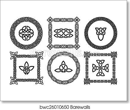 Art Print Of Celtic Knots Frames Barewalls Posters Prints