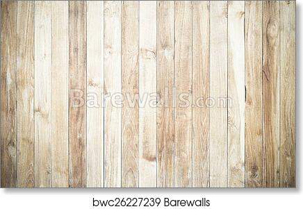 Art Print Of High Resolution White Wood Texture Background