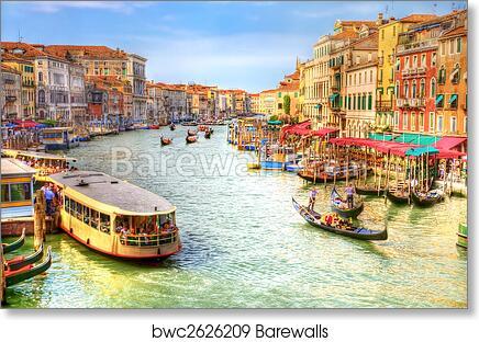 art print of venice grand canal view barewalls posters prints