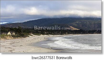 Art Print Of Pebble Beach Golf Course Monterey California Usa