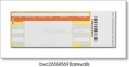 art print of blank concert ticket barewalls posters prints