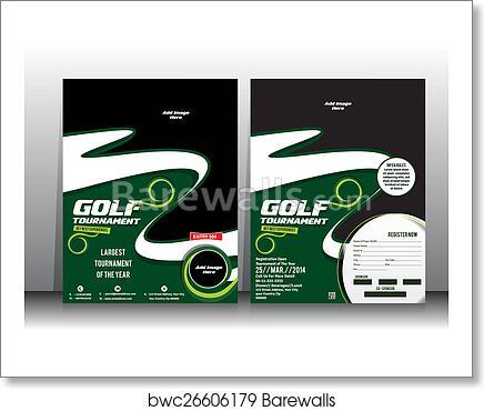 art print of golf tournament flyer brochure template barewalls
