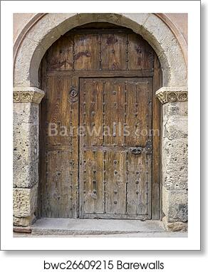 Vintage Medieval Door Spanish City Of Segovia Old Wooden Entra Art Print Barewalls Posters Prints Bwc26609215
