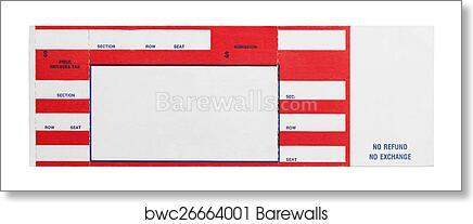 art print of red concert ticket barewalls posters prints