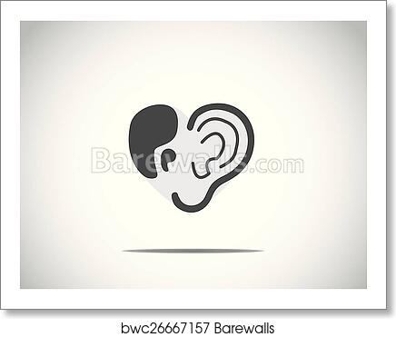 Art Print Of Abstract Concept Illustration Of Hearing Aid
