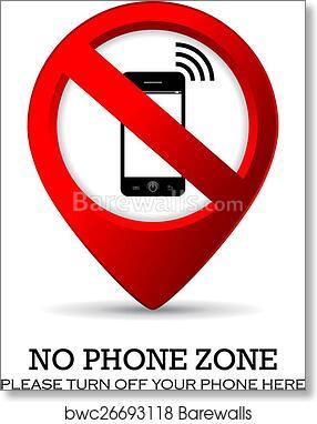 art print of no phone sign barewalls posters prints bwc26693118