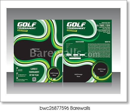art print of golf flyer brochure template design