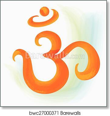 Art Print Of Om Symbol Barewalls Posters Prints Bwc27000371