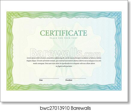 Art Print Of Certificate Template Diplomas Currency Vector