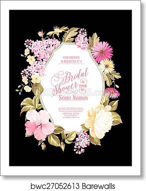 Bridal Shower Invitation Art Print Poster