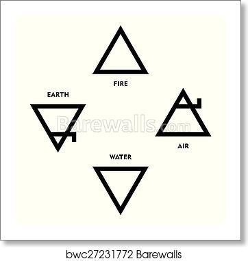 Art Print Of Classical Alchemy Element Symbols Barewalls Posters