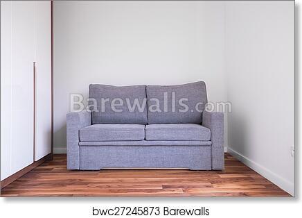 Gray Sofa In Empty Room Art Print