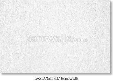 Art Print Of White Plaster Wall Texture Background