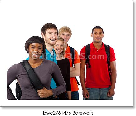 Diverse Group Of College Students Art Print Poster