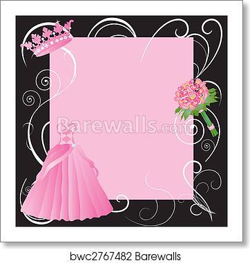 art print of sweet 16 la quinceanera party invitation barewalls