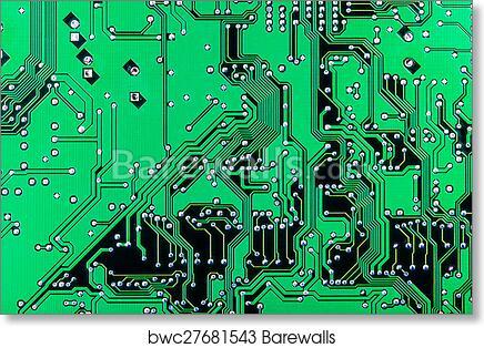Art Print of Electronic printed circuit board | Barewalls Posters ...