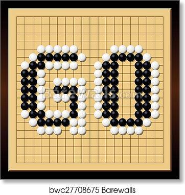 art print of go game board word gobang gomoku barewalls posters