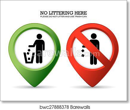 Art Print Of Do Not Litter Sign Barewalls Posters Prints