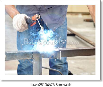 Arc Welding Or Stick Welding Art Print Barewalls Posters Prints Bwc28104675