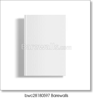 art print of blank book cover template barewalls posters prints