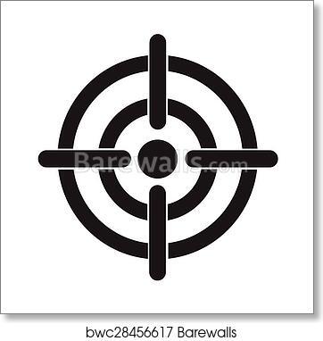 Art print of target icon