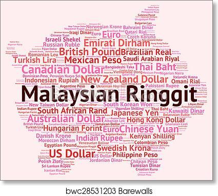 Malaysian Ringgit Shows Foreign Currency And Forex art print poster