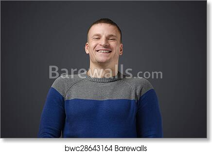 Art Print Of Portrait Of A Young Gay Men Who Smiles