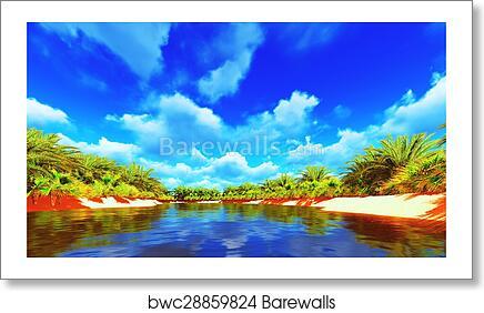African Oasis Art Print Barewalls Posters Prints Bwc28859824
