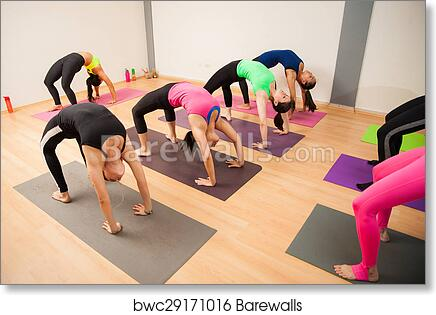 Backbend Pose In A Yoga Class Art Print Barewalls Posters Prints Bwc29171016