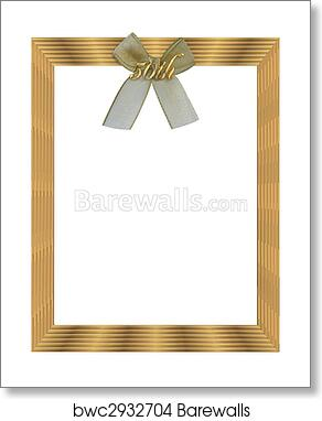 Art Print Of 50th Wedding Anniversary Frame Barewalls Posters