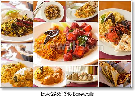 Art Print Of Indian Food Collage Barewalls Posters Prints