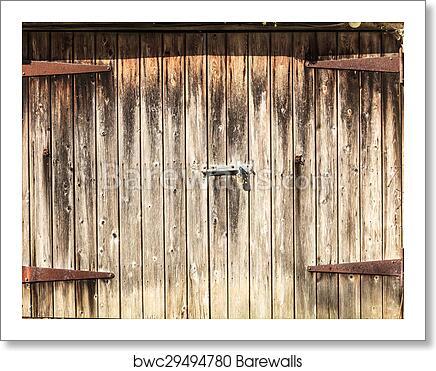 Art Print Of Old Wooden Barn Door Barewalls Posters Prints