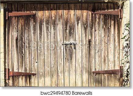Old Wooden Barn Door, Art Print