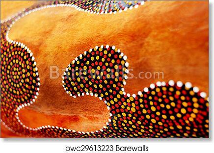 Details Of Indigenous Australian Art Dot Painting Art Print