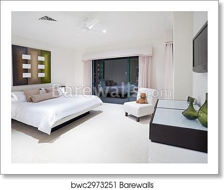 Master Bedroom In Luxury Mansion Art Print Poster