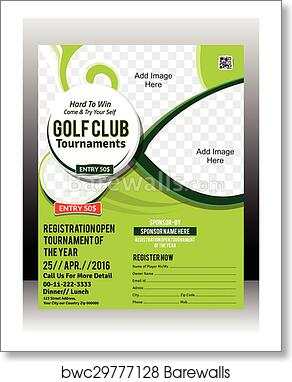 art print of golf tournament flyer template barewalls posters