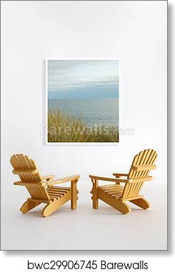 Art Print Of Miniature Adirondack Chairs