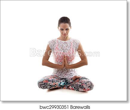 yoga pose sukhasana art print  barewalls posters