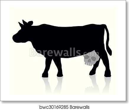 Art Print Of Milk Unhealthy Dairy Morbid Cow Barewalls Posters