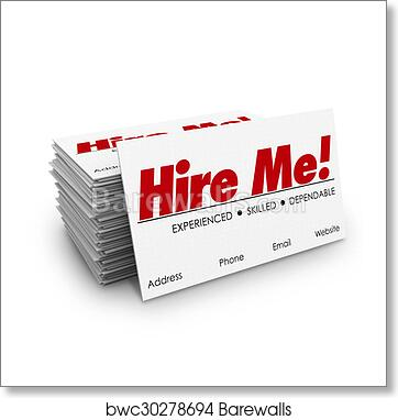 Art print of hire me business cards apply job interview resume sell art print of hire me business cards apply job interview resume sell yourself reheart Gallery