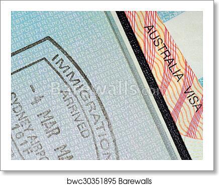 Australian Visa And Passport Stamp Art Print